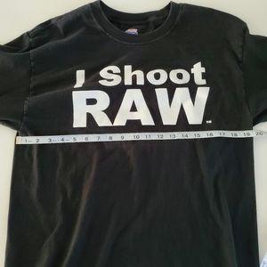 Hanes Shirts - I Shoot Raw Photography Tee Long Sleeve Size L 🔥